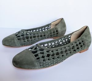 Etienne Aigner Eden Suede Ballet Flats Shoes